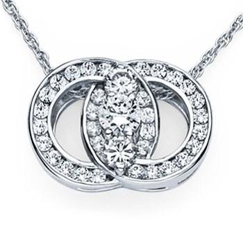 14K White Gold diamond Marriage Symbol