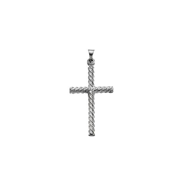 14k White Gold Cross 17.5x11mm