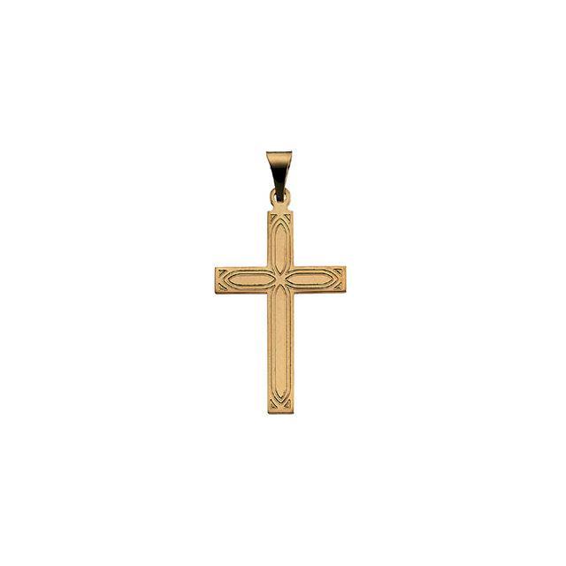 14k Yellow Gold Cross 22x14mm