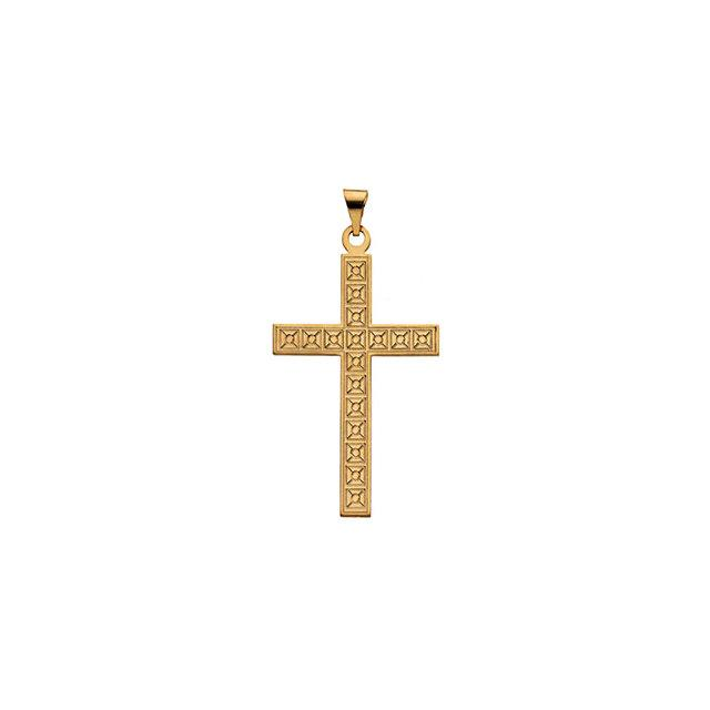 14k Yellow Gold Cross 22x14mm