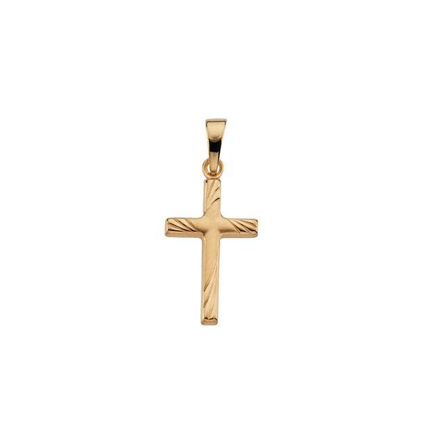 14k Yellow Gold Cross 17.5x12mm