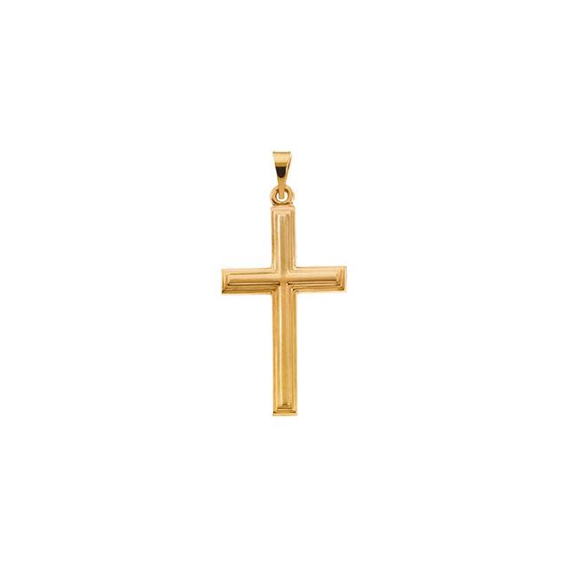 14k Yellow Gold Cross 24x14mm