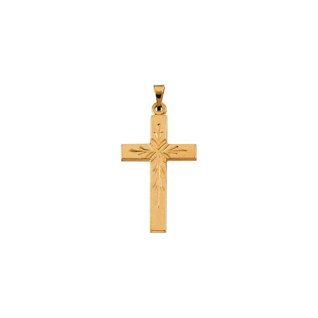 14k Yellow Gold Cross 24x15mm