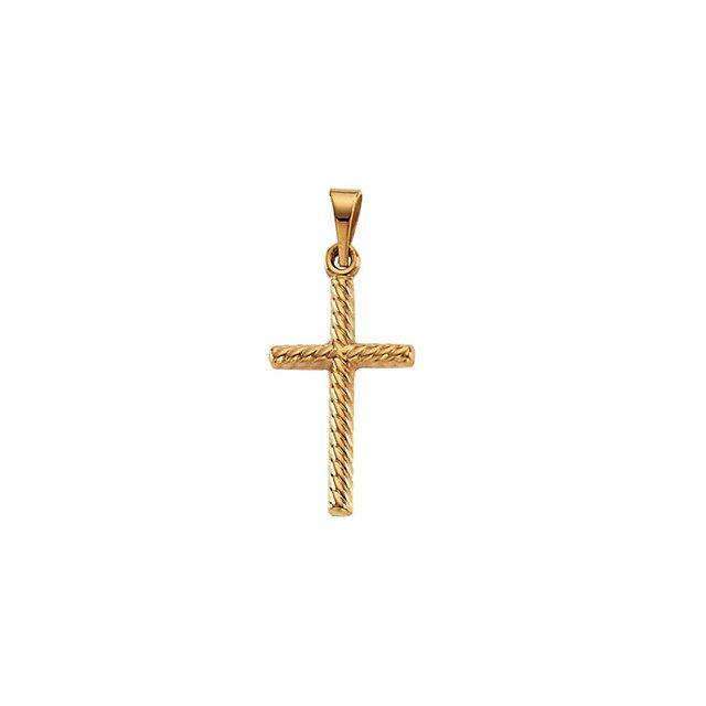 14k Yellow Gold Cross 17.5x11mm