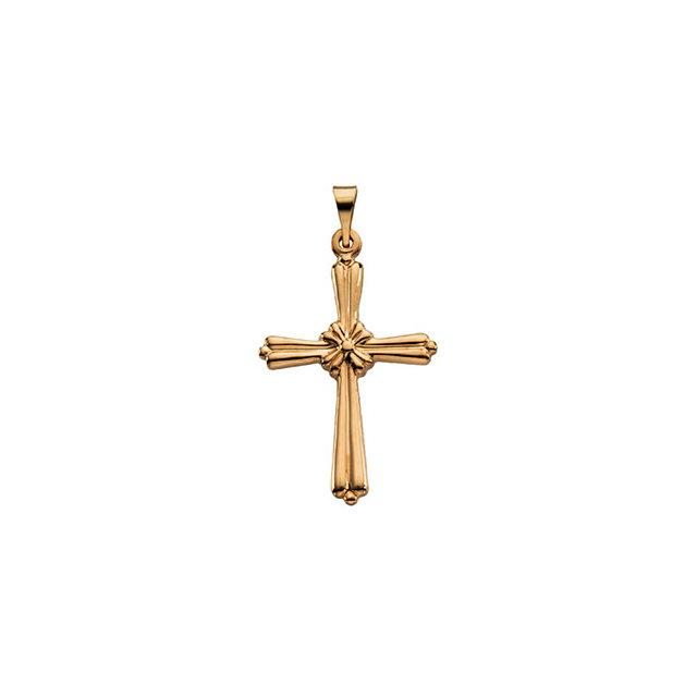 14k Yellow Gold Cross 14x10.5mm