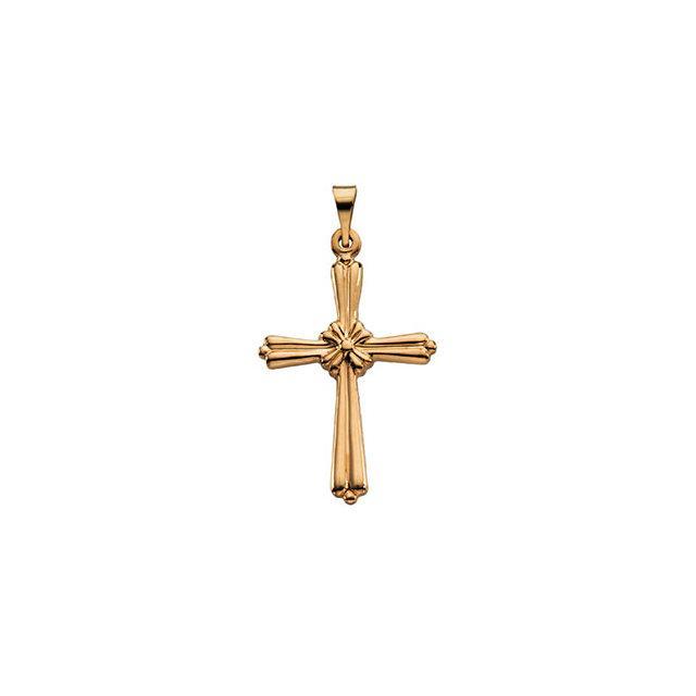 14k Yellow Gold Cross 14x10.5mm