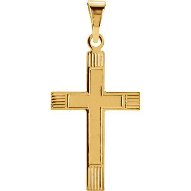 14k Yellow Gold Cross 18x12mm