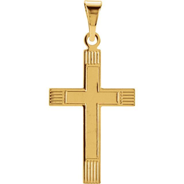 14k Yellow Gold Cross 18x12mm