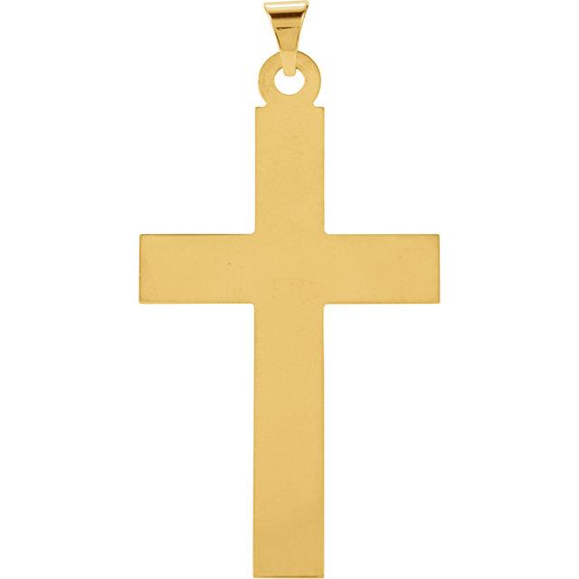 14k Yellow Gold Cross 28x18mm