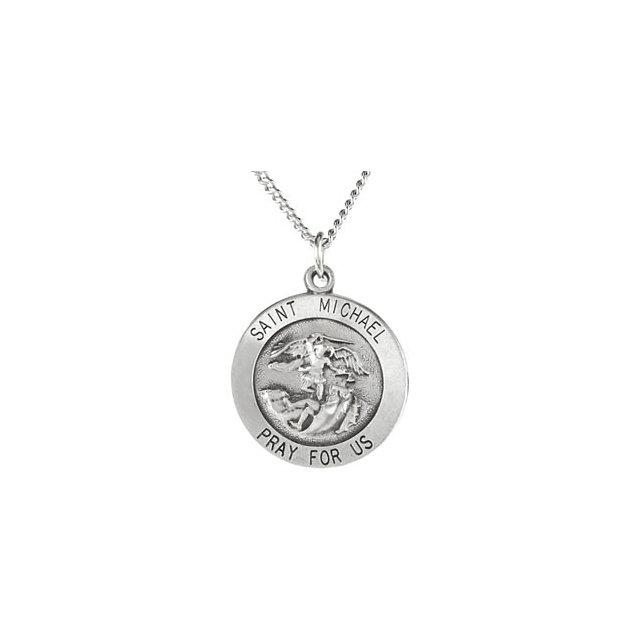 Sterling Silver St Michael Medal