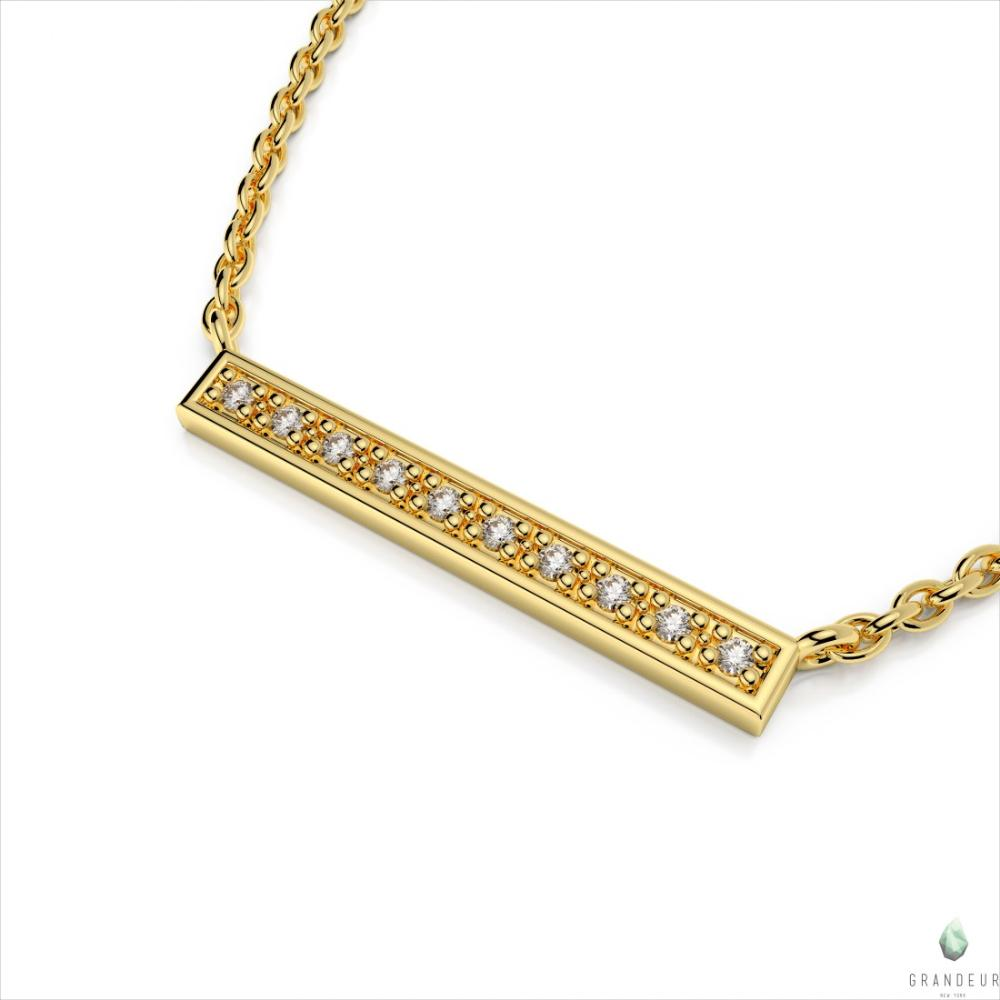 14k yellow gold bar pendant n12y at hayden