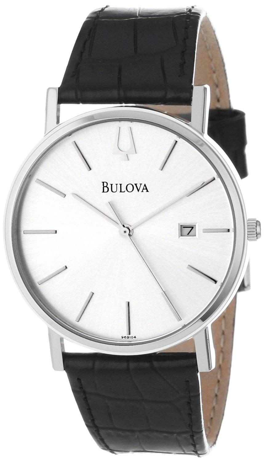 Bulova Womens Diamond Gallery Analog Display White Watch