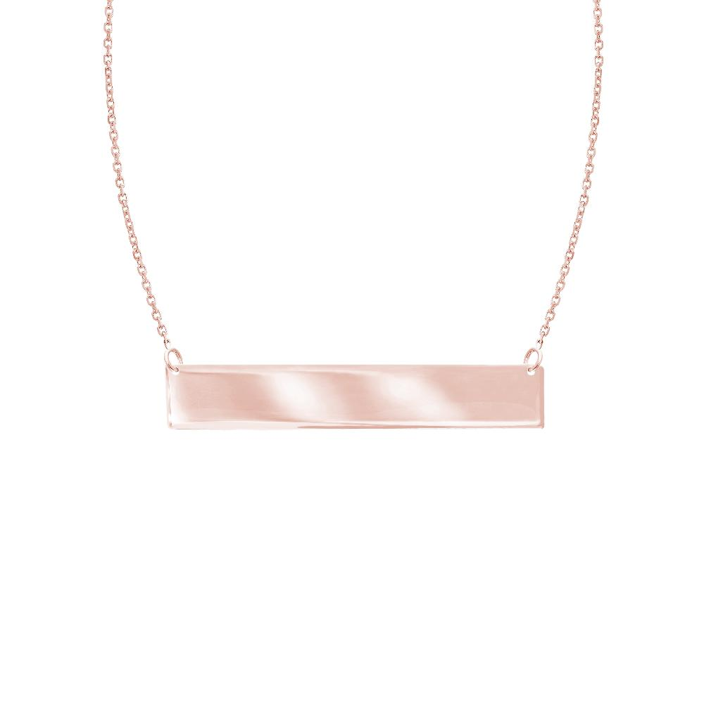 14k Rose Gold Bar Pendant