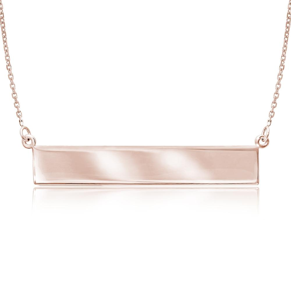 Gold pendant at hayden jewelers syracuse ny 14k rose gold bar pendant aloadofball Image collections