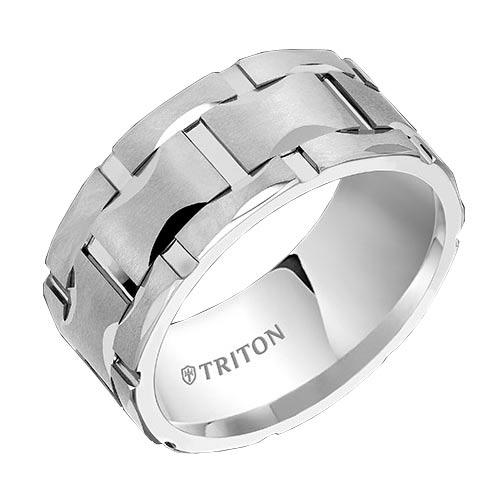 White Tungsten Matrix Comfort Fit Band
