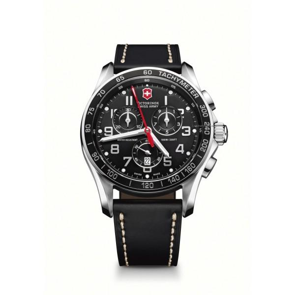 Victorinox Swiss Army Mens Chron Classic Black Chronograph Dial Watch