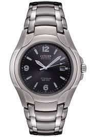 Citizen Mens Eco-Drive 180 WR100 Titanium Bracelet Watch