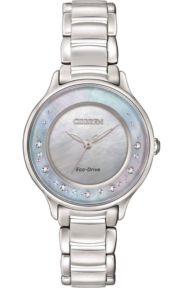 Citizen Womens Circle of Time Analog Display Japanese Quartz Silver Watch
