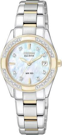 "Citizen Womens Eco-Drive ""Regent"" Two-Tone Diamond-Accented Watch"