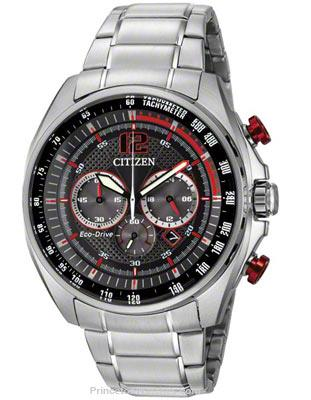 Citizen Mens Citizen Eco-Drive Silver-Tone Watch