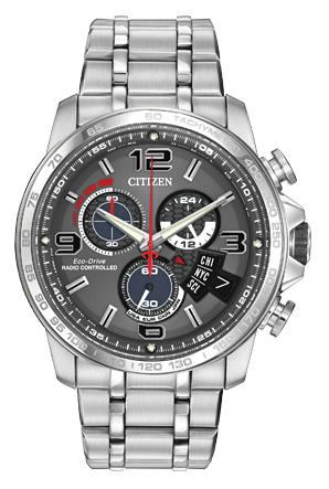 Citizen Mens Time A-T Analog Display Quartz Silver Watch