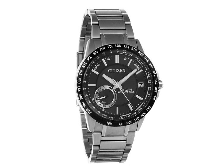Citizen Mens Satellite Wave Analog Display Quartz Silver Watch
