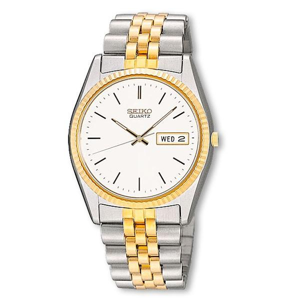 Seiko Mens Stainless Steel Two-Tone Watch