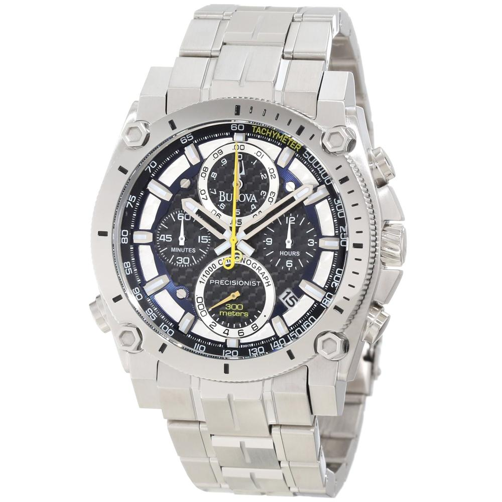 Bulova Mens Precisionist Stainless Steel Watch