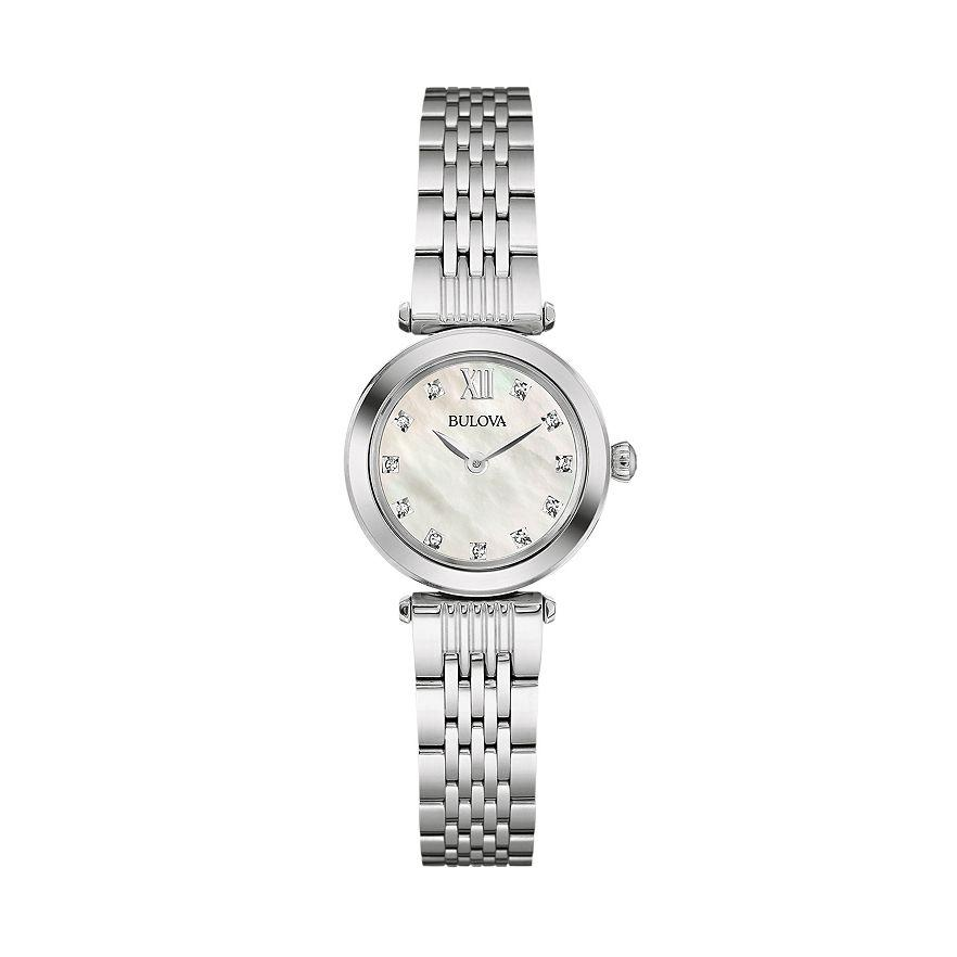 Bulova Womens Diamond Stainless Steel Watch