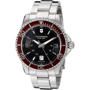 Victorinox Swiss Army Mens Swiss Maverick Stainless Steel Bracelet Watch