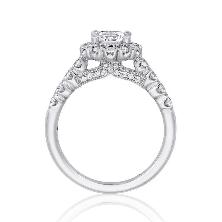 14k White Gold and Diamond Semi-Mounting