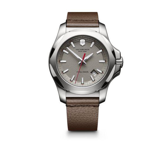 Swiss Army I.N.O.X. Leather Strap Watch