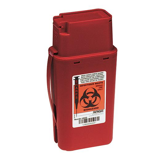"Transportable Sharps Container Red 1.5 Quart 10.5""H x 3.5""D x 3.5""W"