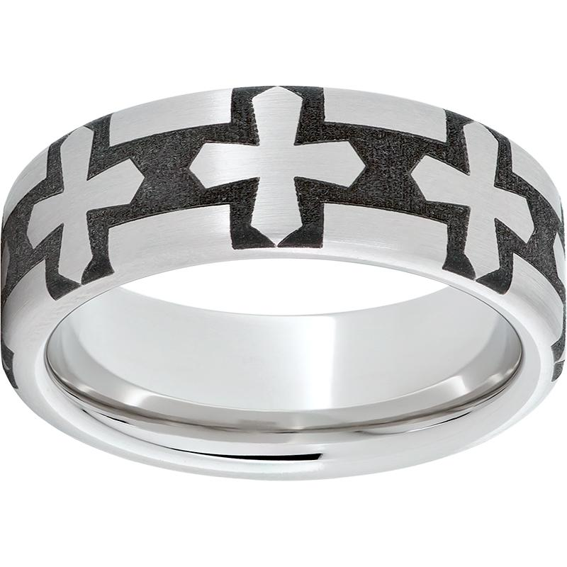 Serinium Pipe Cut Band with Gothic Laser Engraving