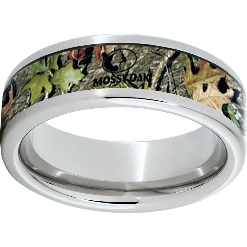 Serinium Pipe Cut Band with Mossy Oak Obsession Inlay
