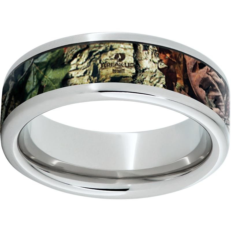 Serinium Pipe Cut Band with Mossy Oak Break-Up Infinity Inlay