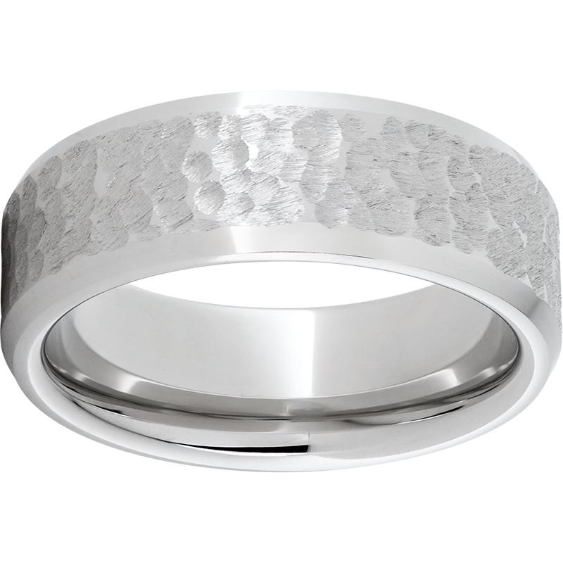 Serinium Bevel Band Moon Pattern