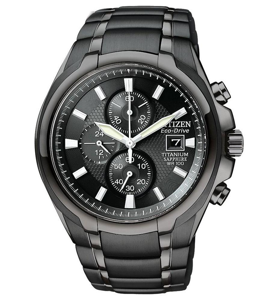 Citizen Drive Titanium Black Mens Watch