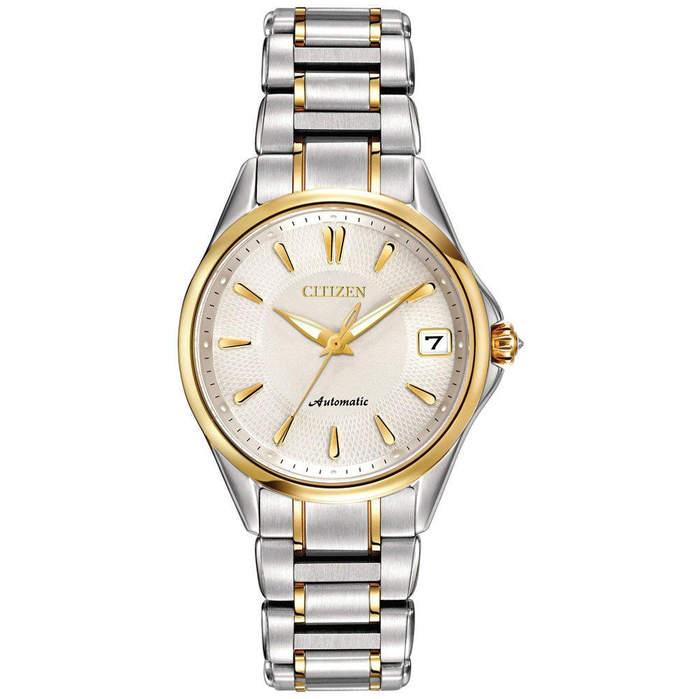 Citizen Womens Grand Classic Analog Display Automatic Self Wind Two Tone Watch
