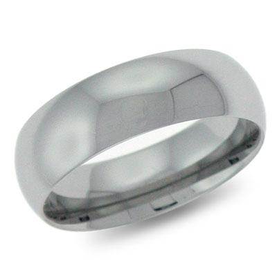 Domed Comfort-Fit Tungsten Ring