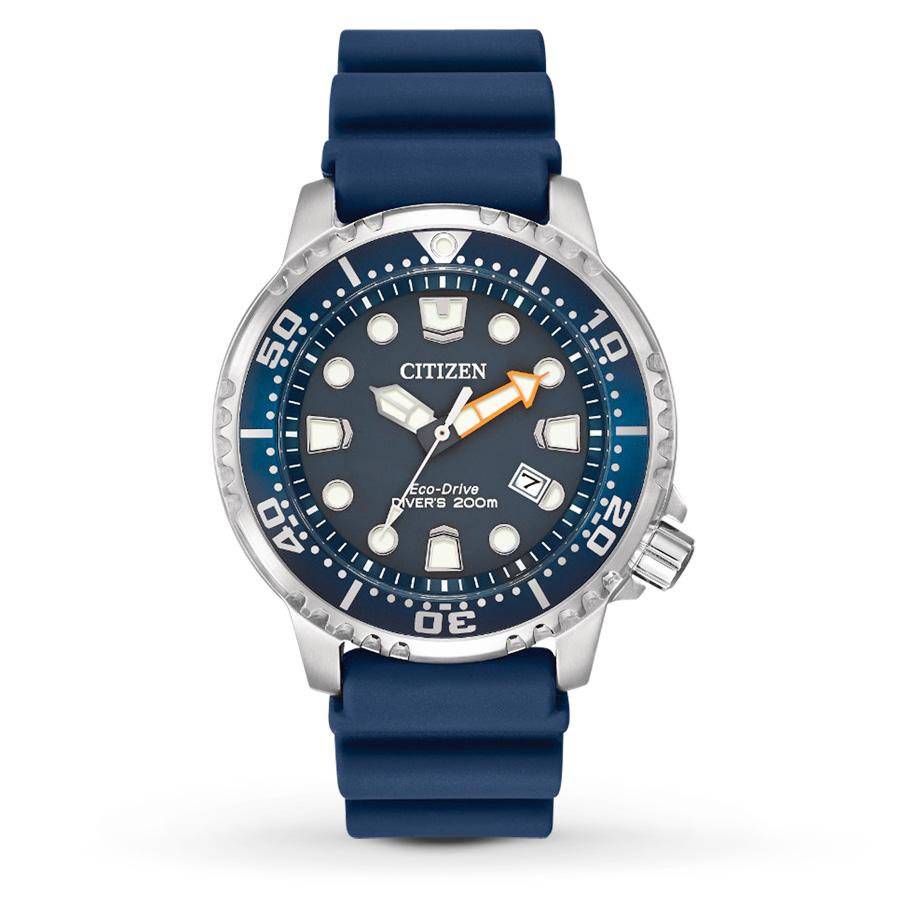 Citizen Eco-Drive Mens Promaster Diver Watch With Blue PU Band