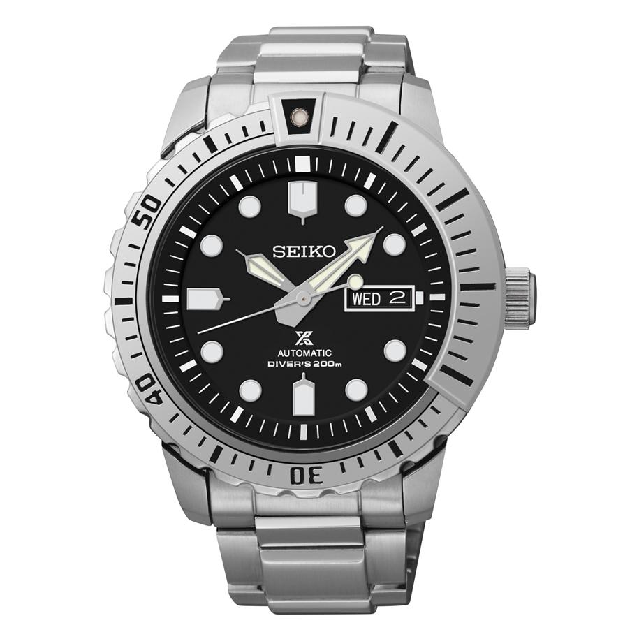 Seiko Prospex Automatic Black Dial Stainless Steel Mens Watch