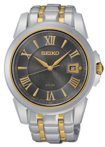 Seiko Mens Le Grand Sport Two-Tone Bracelet Band Brown Dial Watch