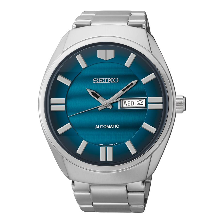 Seiko Mens Analog Automatic Self-winding Silver Watch
