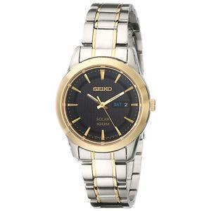 Seiko Womens  Analog Display Japanese Quartz Two Tone Watch