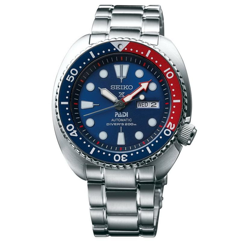 Seiko Padi Automatic Prospex Pepsi Turtle Divers 200M Mens Watch