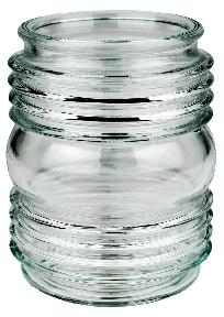 Clear Glass Exterior Jar Globe