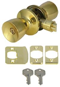 Bright Brass Entry Lockset
