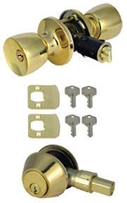 Brass Entry & Deadbolt Combo Kit