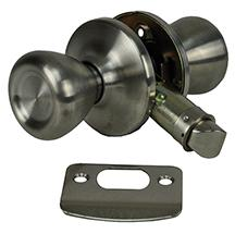Stainless Interior Privacy Lockset